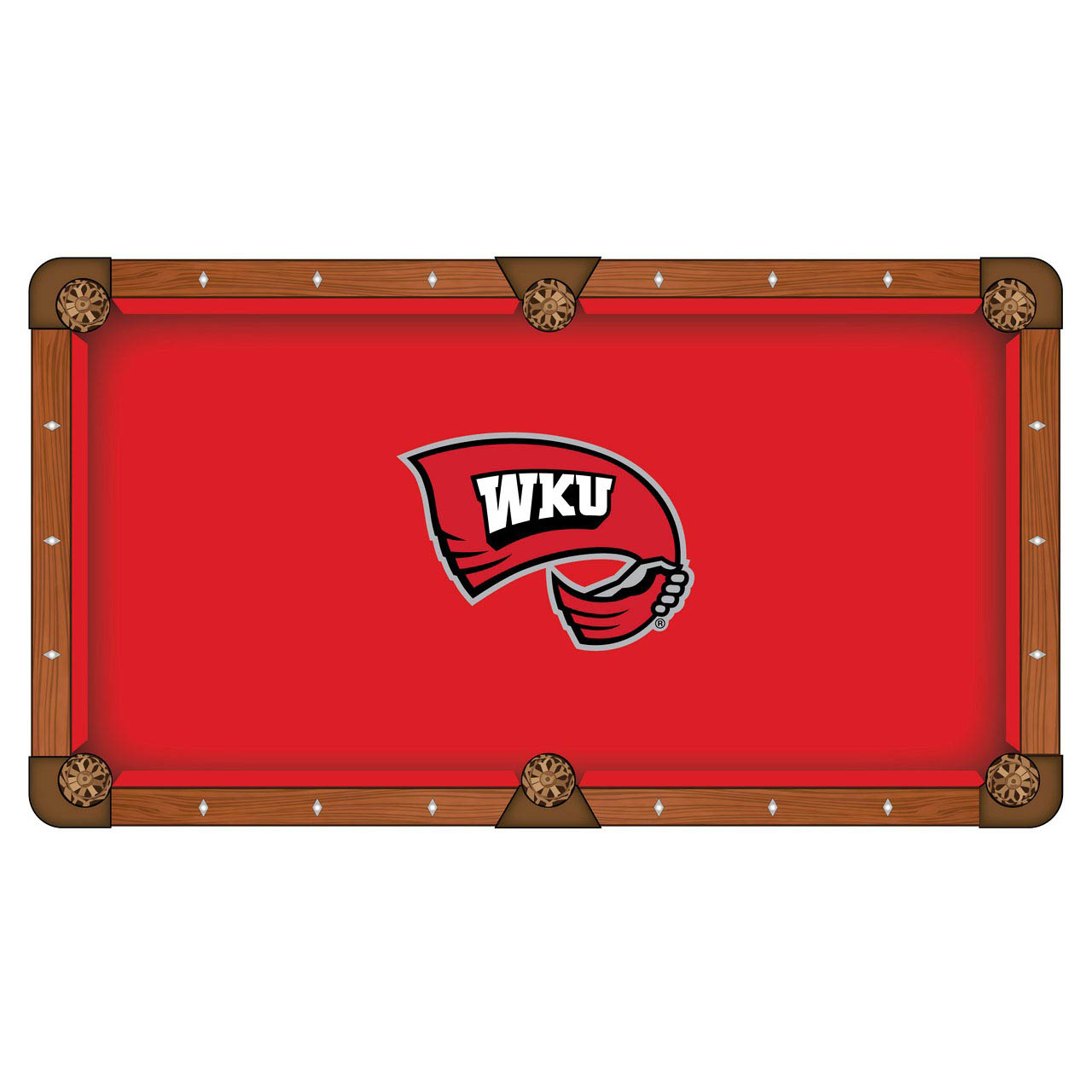 Order Western Kentucky University Pool Table Cloth Product Photo