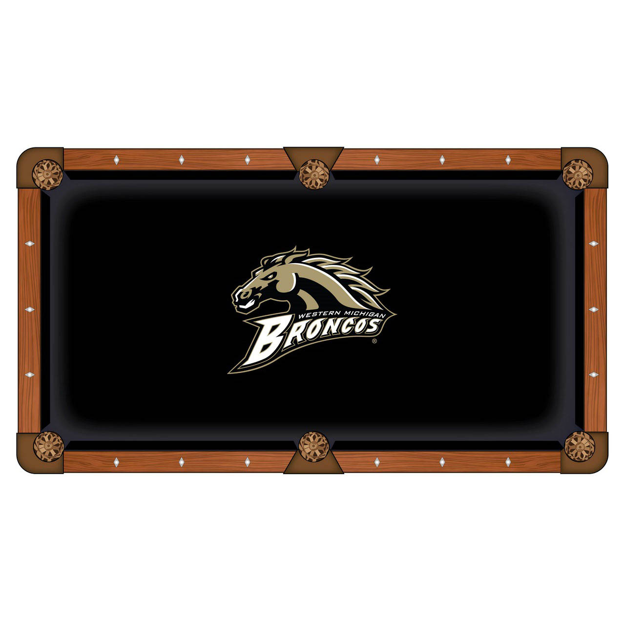 Select Western-Michigan-University-Pool-Table-Cloth Product Picture 1047