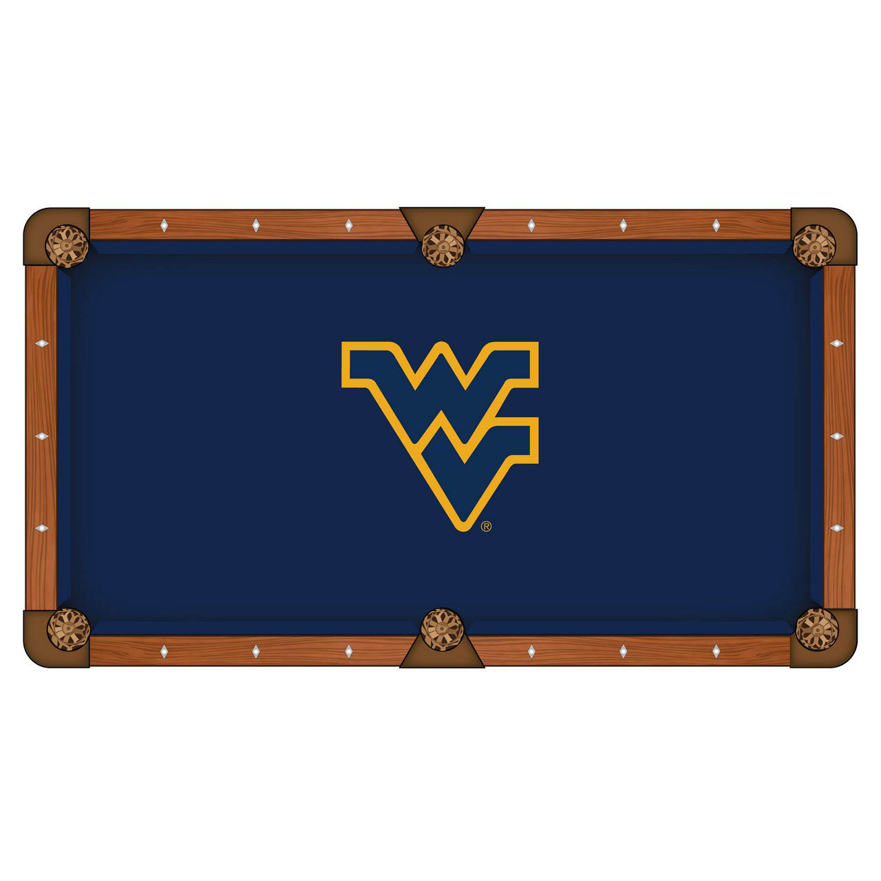 Search West Virginia University Pool Table Cloth Product Photo