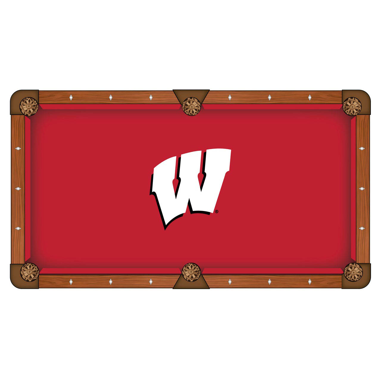 Check out the University Wisconsin Logo Pool Table Cloth Product Photo