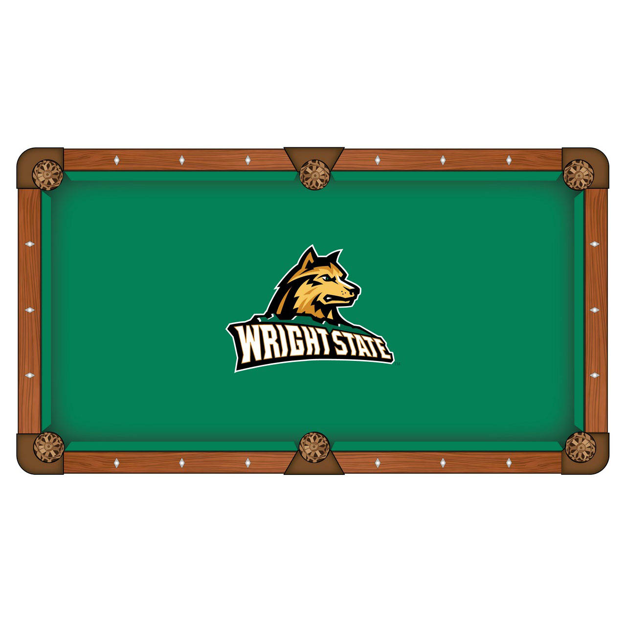 Ultimate Wright State University Pool Table Cloth Product Photo