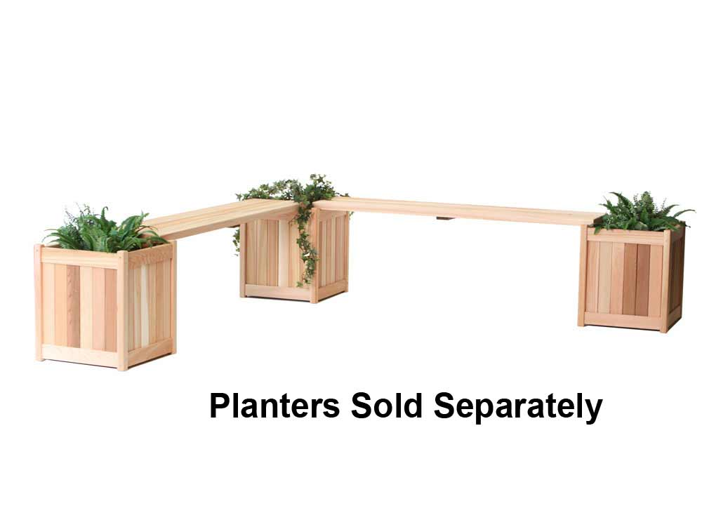 Valuable Cedar Planter Benches Product Photo