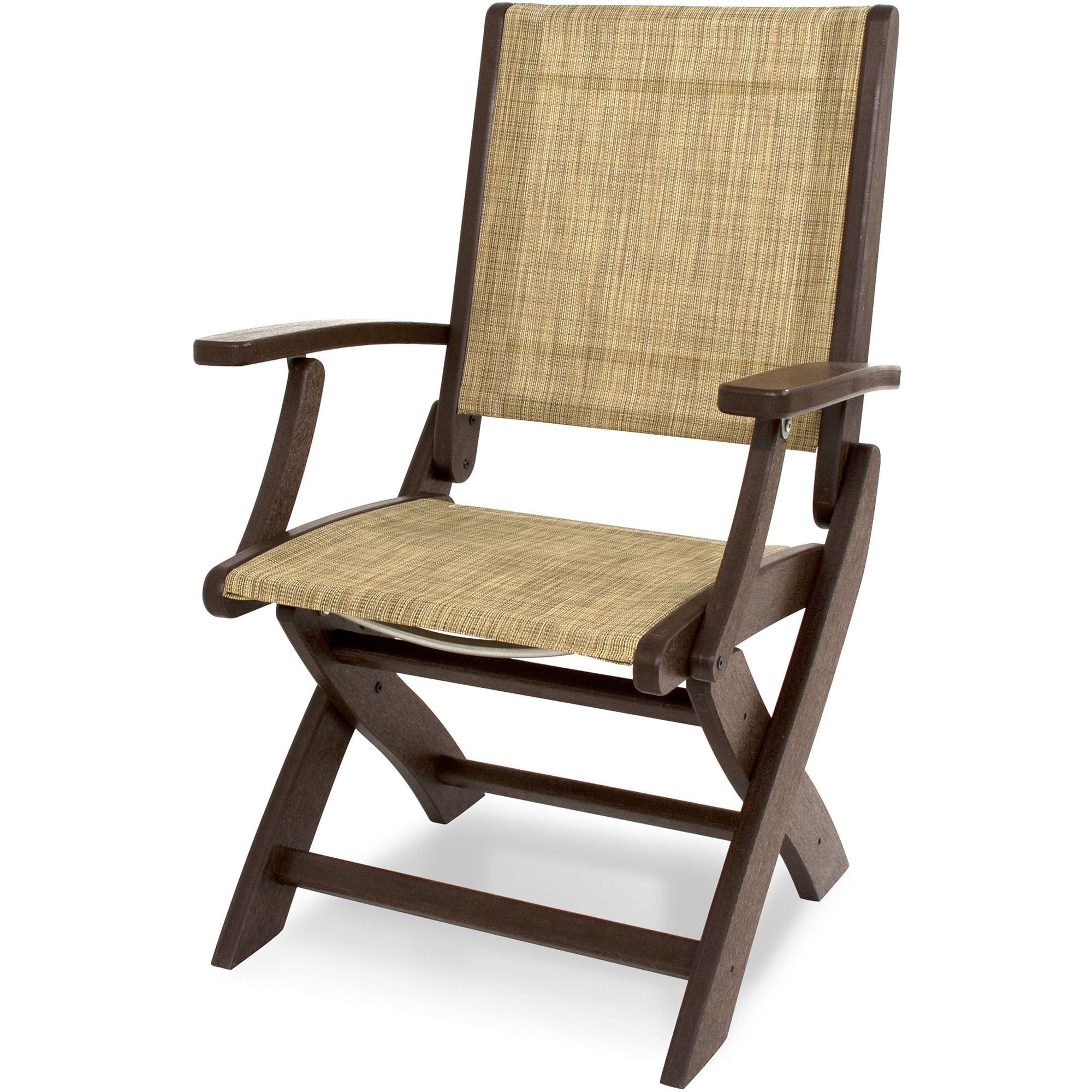 Outstanding Coastal Dining Chair Burlap Sling Product Photo