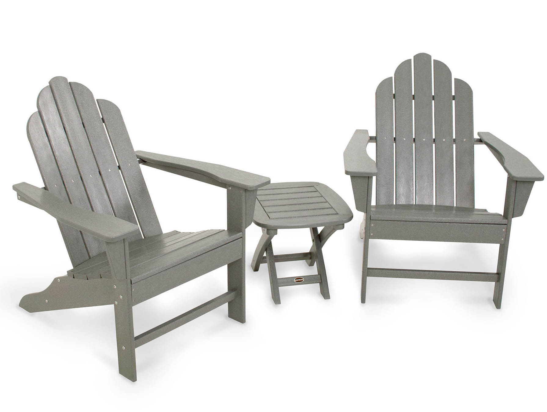 Outstanding Long Island Adirondack Slate Grey Set 11 2331