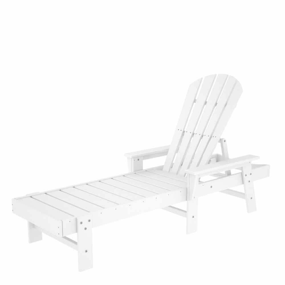 Splendid White South Beach Chaise Product Photo