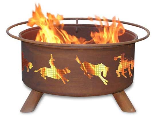 Stunning Steel Western Fire Pit Product Photo