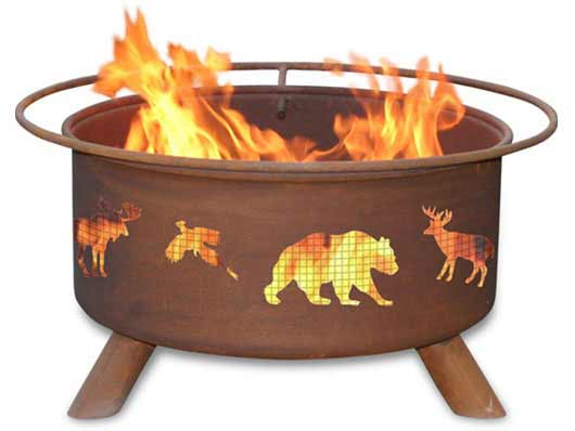 Exquisite Steel Wildlife Fire Pit Product Photo