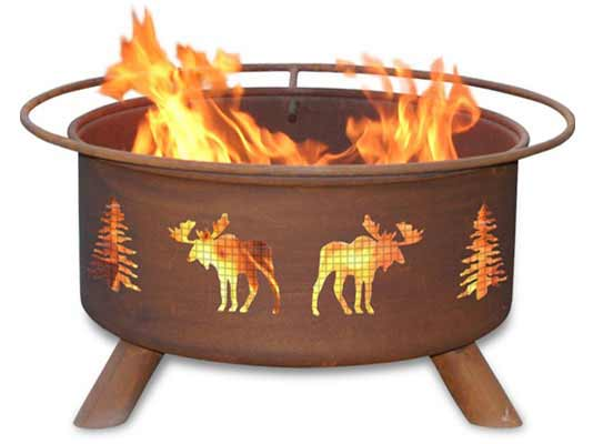 Affordable Steel Moose Trees Fire Pit Product Photo