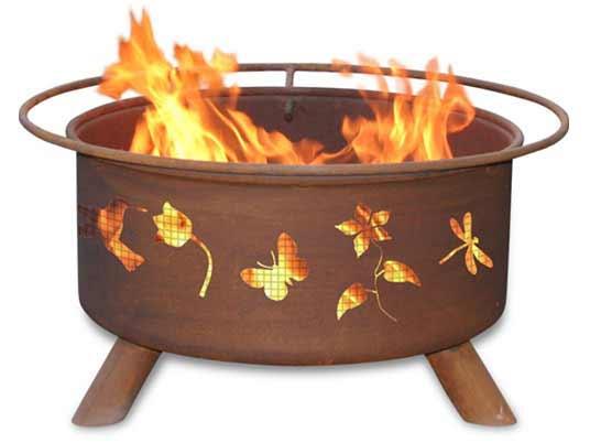 Superb Steel Flower Garden Fire Pit Product Photo
