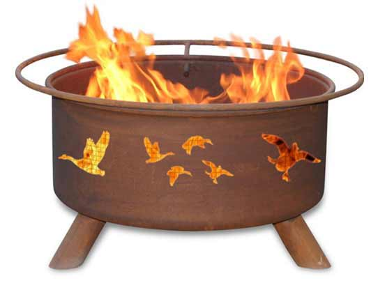 Info about Steel Wild Ducks Fire Pit Product Photo
