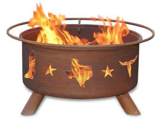 User friendly Steel Lone Star Texas Fire Pit Product Photo