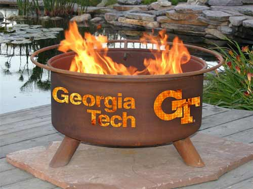 Info about Steel Georgia Tech Fire Pit Product Photo