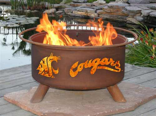 Information about Steel Washington State Cougars Fire Pit Product Photo