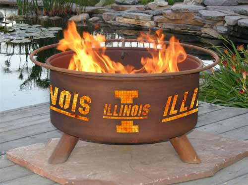 Stylish Steel University Illinois Fire Pit Product Photo