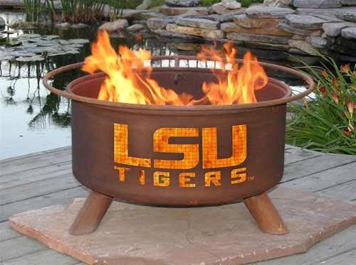Stunning Steel Lsu Fire Pit Product Photo