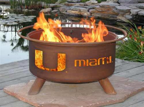 Tasteful Steel University Miami Fire Pit Product Photo