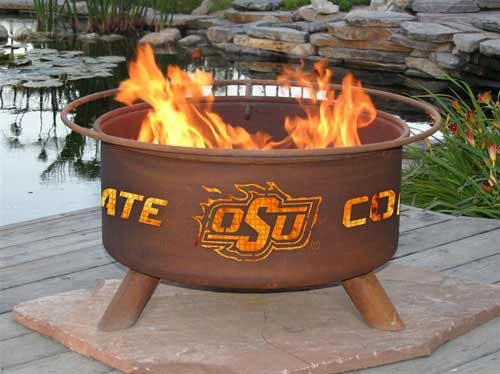 Affordable Steel Oklahoma State Fire Pit Product Photo