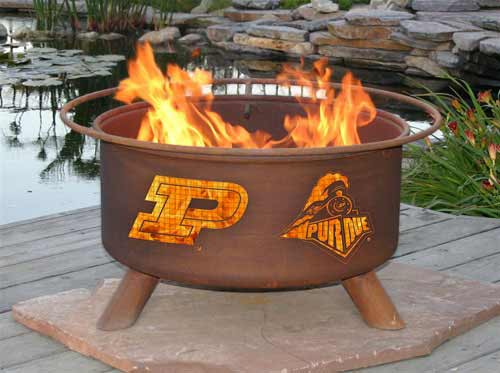 Superb Steel Purdue Fire Pit Product Photo