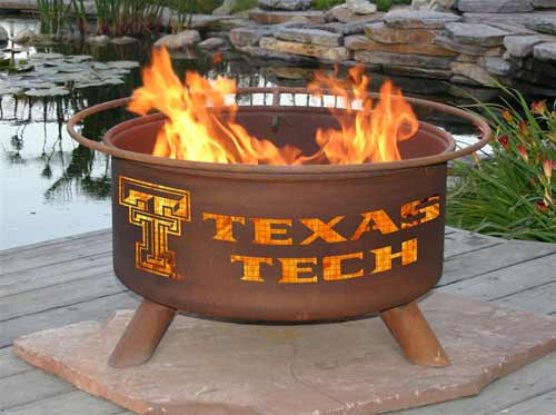 Impressive Steel Texas Tech Fire Pit Product Photo