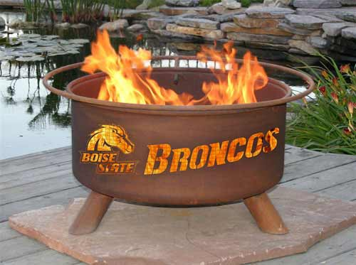 Money saving Steel Boise State Fire Pit Product Photo