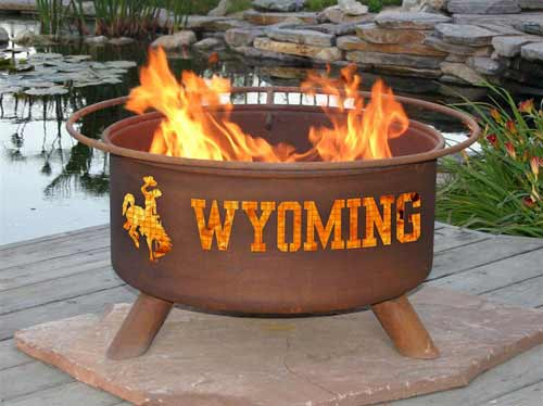 Design Steel University Wyoming Fire Pit Product Photo