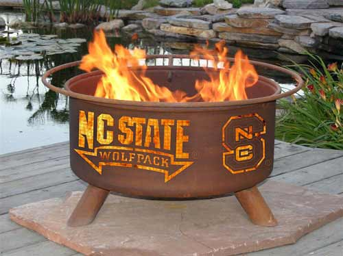 Remarkable Steel North Carolina State Fire Pit Product Photo