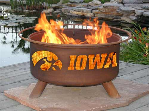 Reliable Steel University Iowa Fire Pit Product Photo
