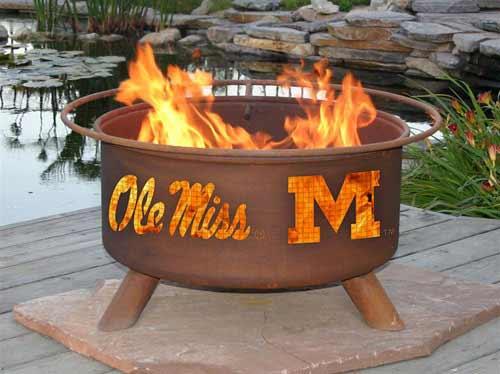 Trustworthy Steel Ole Miss Fire Pit Product Photo