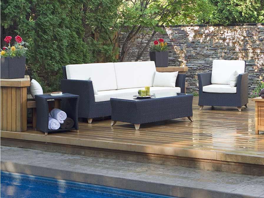 Design Cedar Rattan Deep Seating Set Product Photo