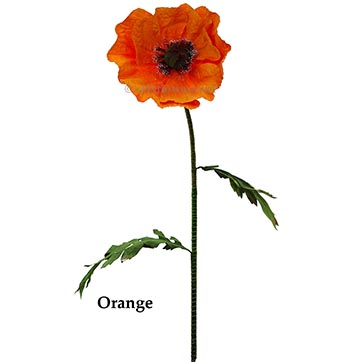 24 inch Wide Giant Poppy by ArtificialPlantsAndTrees.com