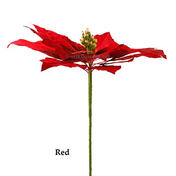 48 inch Wide Giant Poinsettia: Multiple Colors – CLOSEOUT by Artificial Plants and Trees