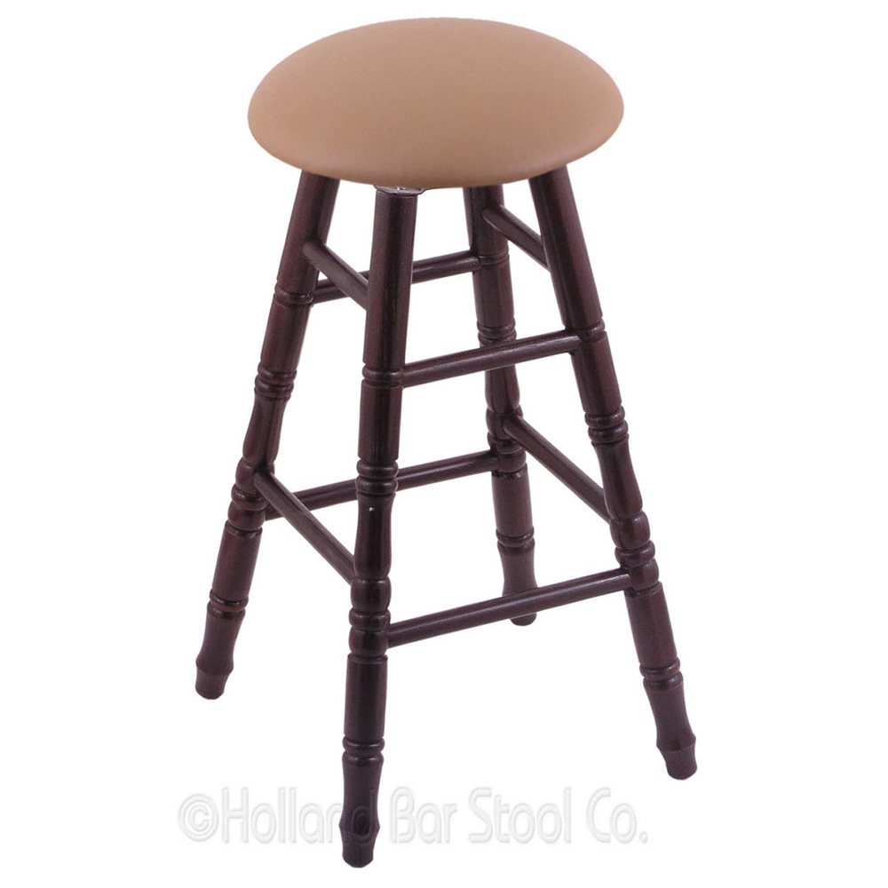 Remarkable Turned Oak Swivel Bar Stools Cushion Product Photo