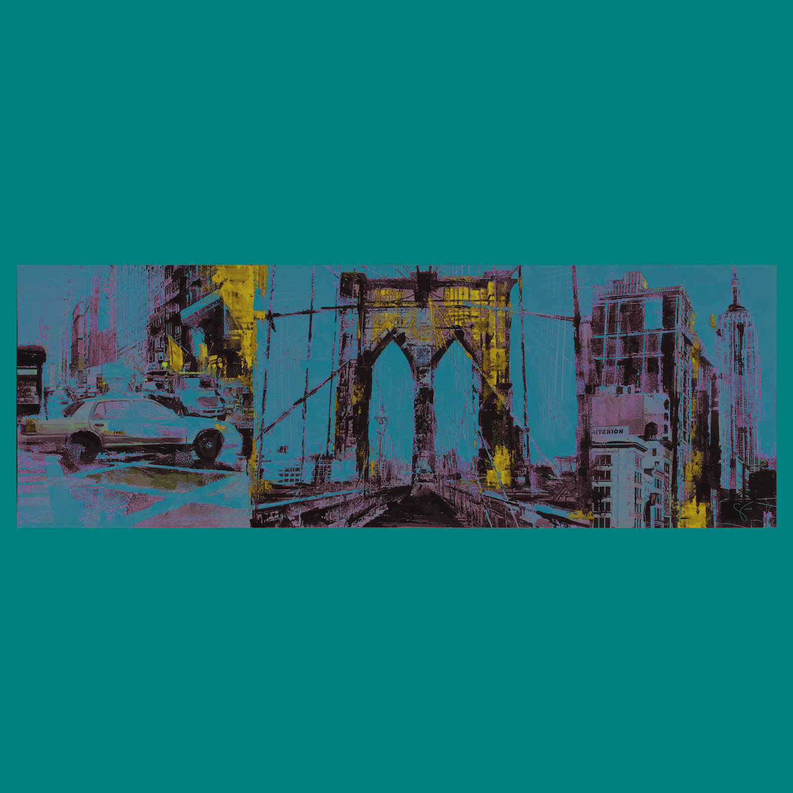 Urban London Rectangular Painting OL918