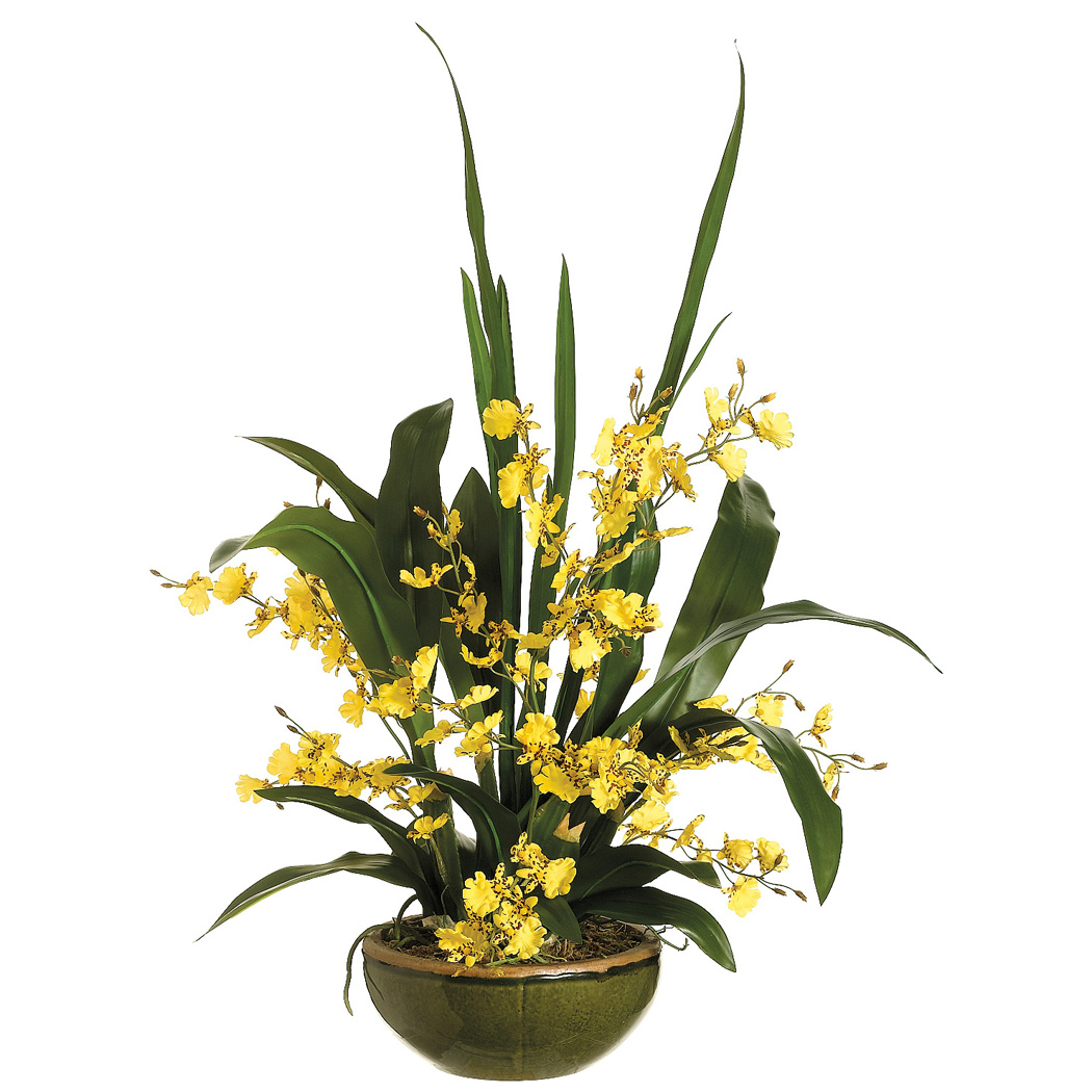 Silk oncidium orchid flower arrangement sa wf3410 silk oncidium orchid flower arrangement izmirmasajfo