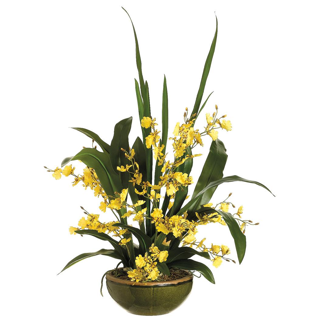 Silk oncidium orchid flower arrangement sa wf3410 closeup image dhlflorist Gallery