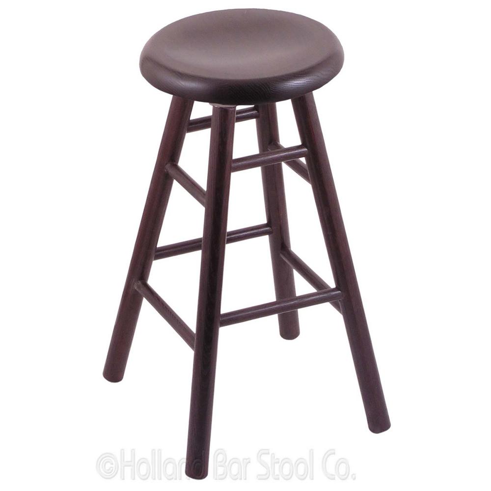 Stylish Oak Swivel Bar Stool Saddle Dish Seat Product Photo