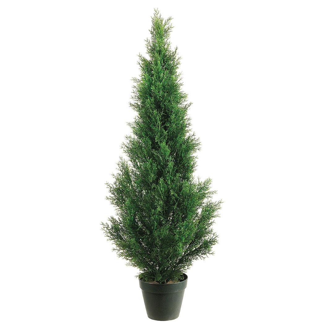 Foot outdoor artificial cedar tree potted 4ftced st