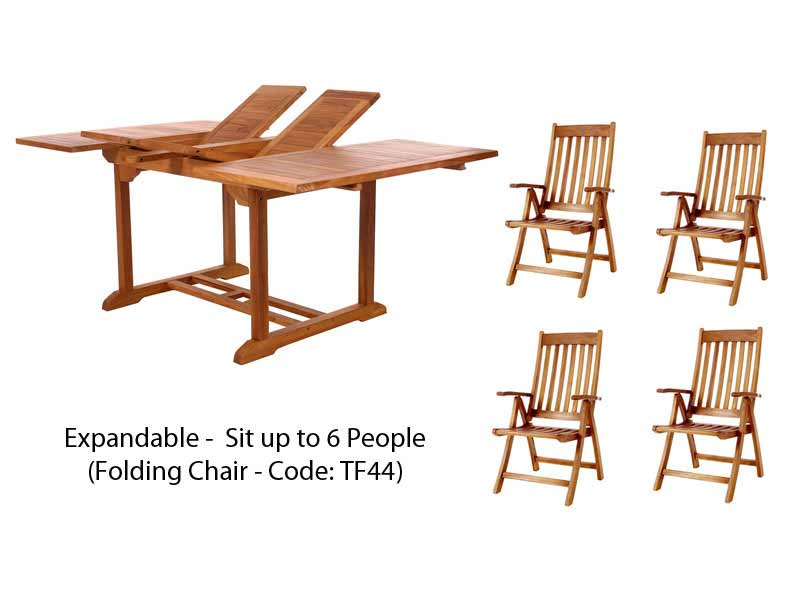 Choose Pc Butterfly Table Teak Folding Arm Chair Set Product Photo