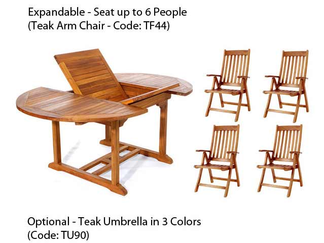 Search Pc Oval Table Teak Folding Arm Chair Set 14 326