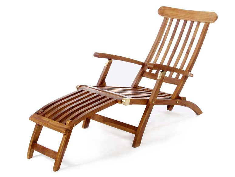 Ultimate Position Teak Steamer Chair Product Photo