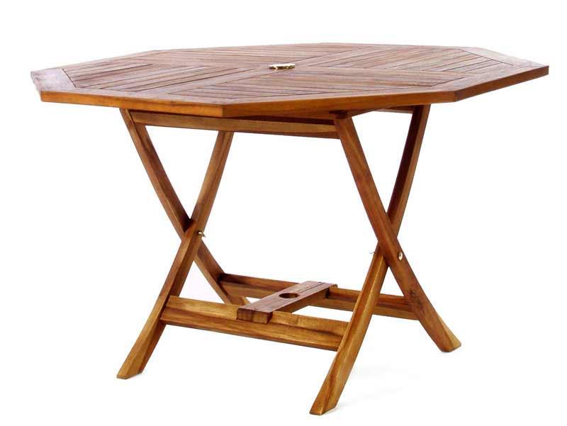 High-class Octagon Teak Folding Table Product Photo