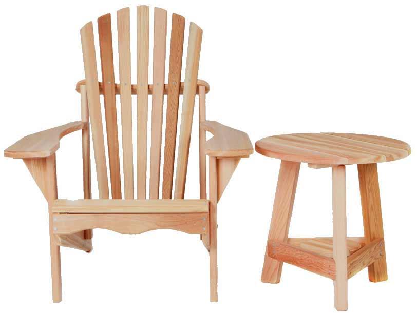 Reliable Cedar Tripod Adirondack Set Product Photo