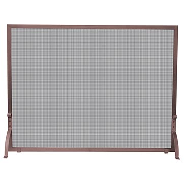 Uniflame Single Panel Antique Copper Finish Fireplace Screen S 1301 Uniflame
