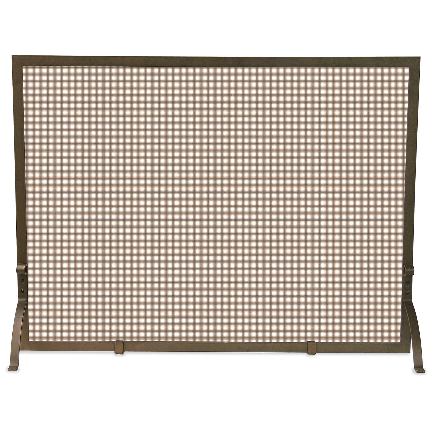 Uniflame Single Panel Bronze Fireplace Screen S 1642