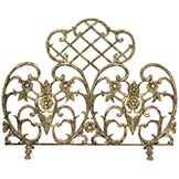 Antique gold finish fireplace screen
