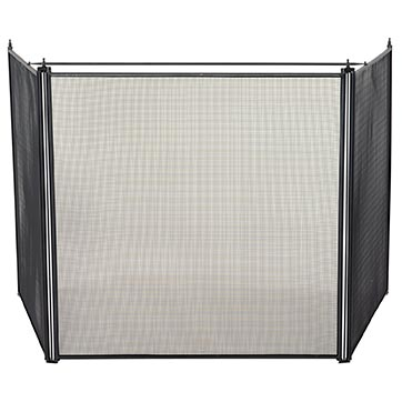 uniflame 3 fold oversized stove fireplace screen s 1519