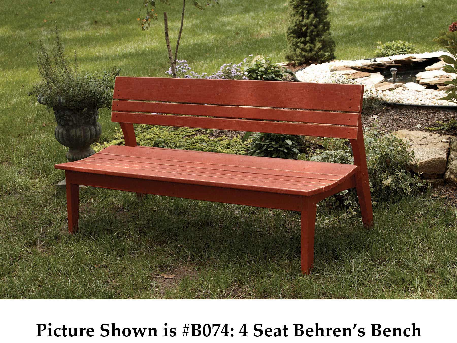 Longstanding Behrens Three Seat Bench Back Product Photo