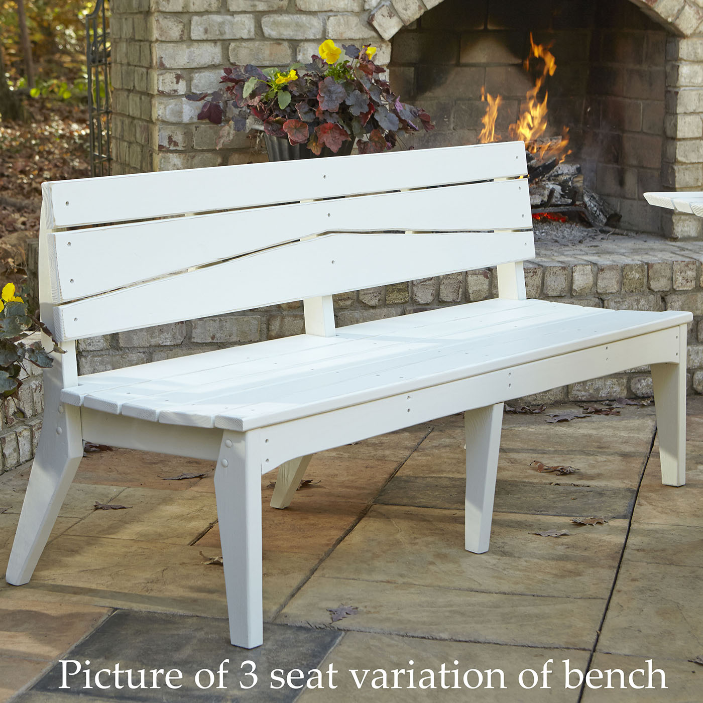New Chair Hourglass Seat Outdoor Bench 6 2238