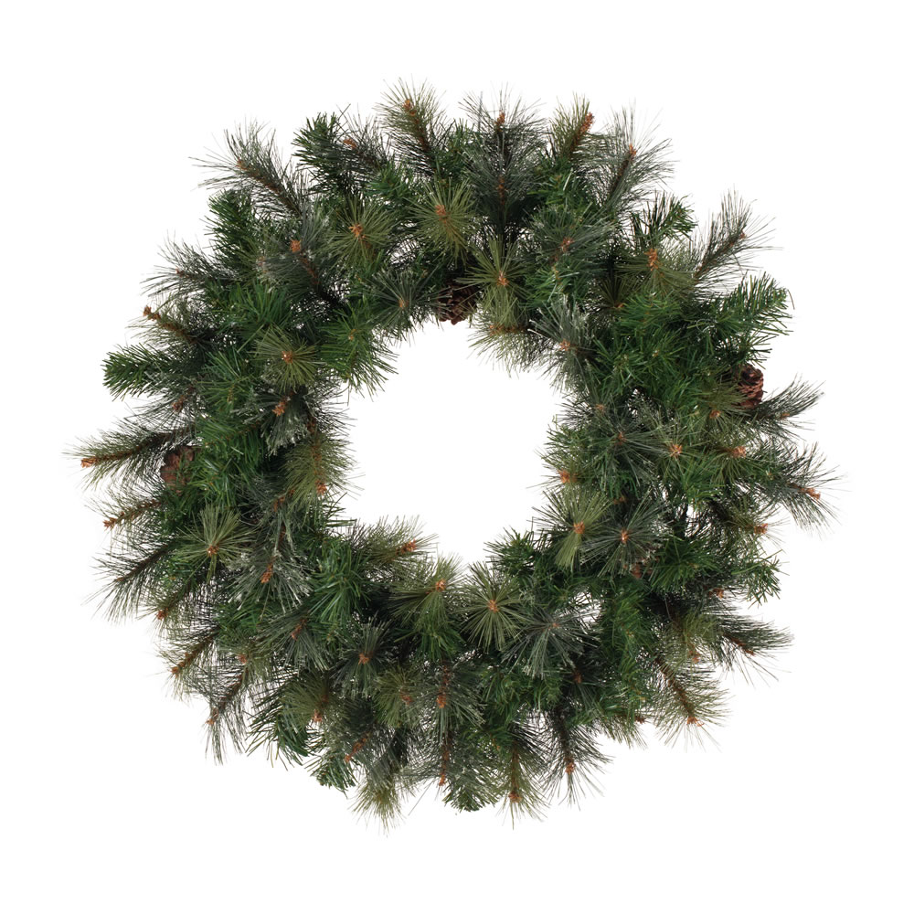 Outstanding Modesto Mixed Pine Wreath Unlit Product Photo