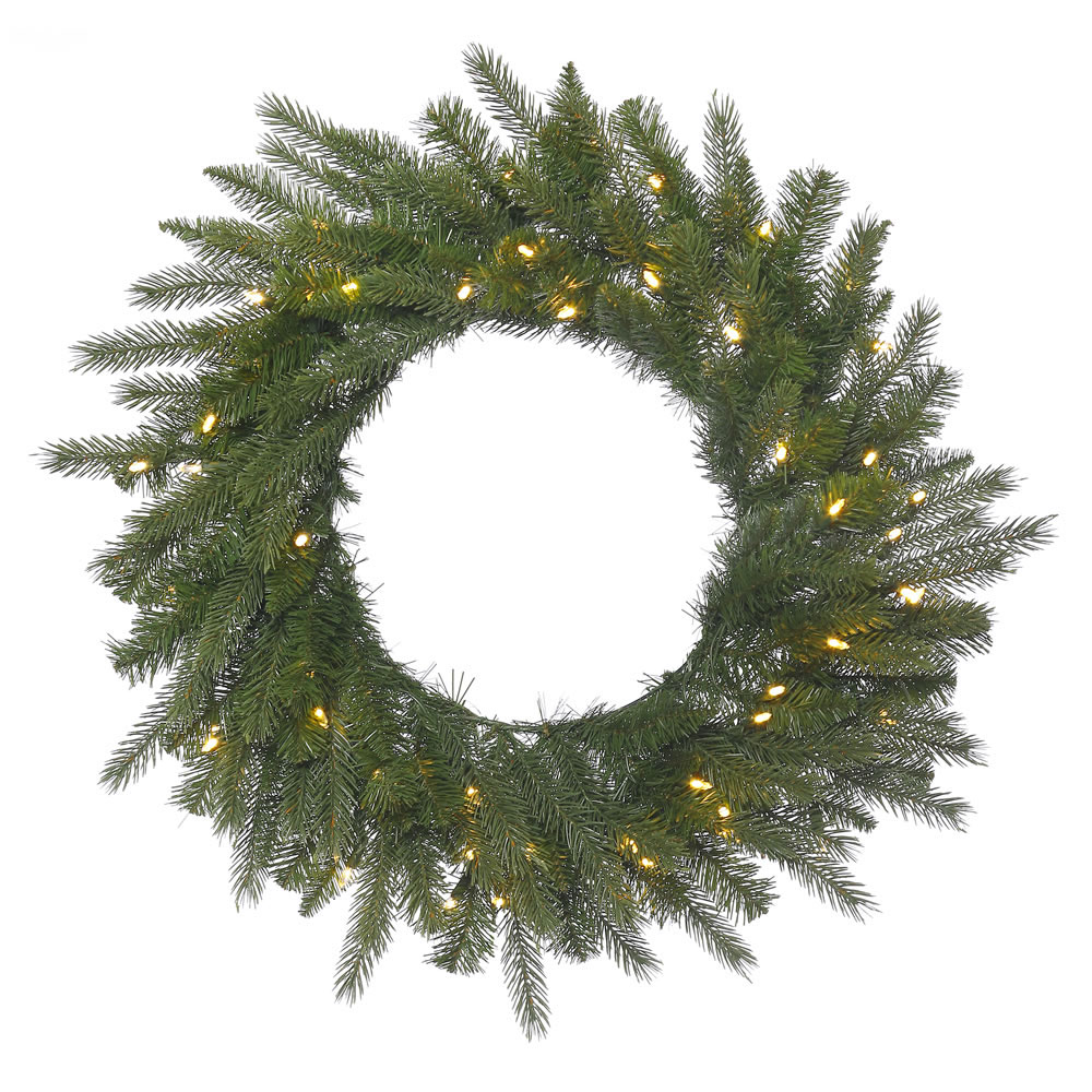 48 inch Dunhill Fir Wreath: Warm White LED Lights A153448LED